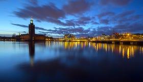De Stad van Stockholm Stock Foto's