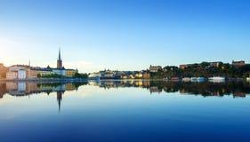 De stad van Stockholm bij de zomer Royalty-vrije Stock Afbeeldingen