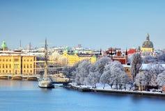De Stad van Stockholm, Zweden stock afbeelding