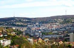 De Stad van Stuttgart Stock Fotografie