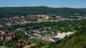 De stad van Sundsvall, Zweden Stock Afbeelding