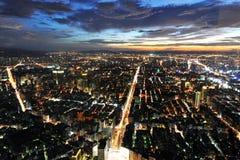 De stad van Taipeh bij nacht Royalty-vrije Stock Fotografie
