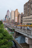 De stad van Taipeh de stad in, Taiwan Royalty-vrije Stock Foto's