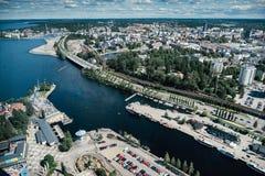 De stad van Tampere van hierboven finland royalty-vrije stock foto's