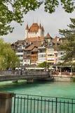 De stad van Thun, Zwitserland Royalty-vrije Stock Afbeeldingen