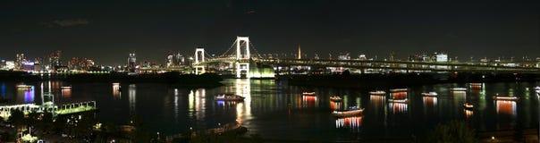 De stad van Tokyo bij nacht royalty-vrije stock afbeeldingen