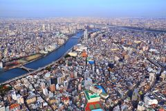 De stad van Tokyo, Japan royalty-vrije stock foto