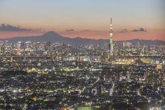De stad van Tokyo, Japan Stock Foto's