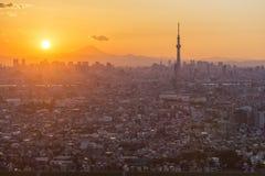 De stad van Tokyo, Japan royalty-vrije stock afbeelding