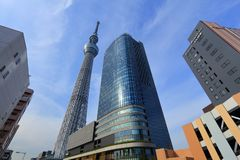 De stad van Tokyo, Japan stock fotografie