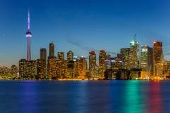 De Stad van Toronto bij Nacht Royalty-vrije Stock Afbeelding