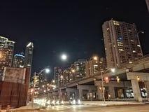 De Stad van Toronto bij Nacht stock foto