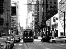 De stad in van Toronto met Tram stock foto