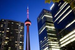 De Stad van Toronto van de nachtfoto Royalty-vrije Stock Afbeeldingen