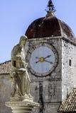 De stad van Trogir, Kroatië stock afbeelding