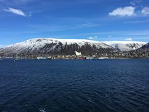 De stad van Tromsø, Noorwegen stock foto