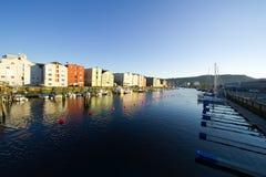 De stad van Trondheim Stock Foto's