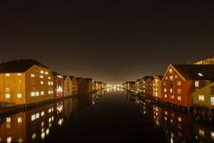 De Stad van Trondheim Royalty-vrije Stock Afbeeldingen