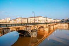De stad van Turijn in Italië royalty-vrije stock afbeeldingen
