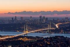 De stad van Turkije, Istanboel Stock Afbeeldingen