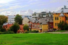 De stad van Turku ?Finland in de zomer Stock Afbeelding