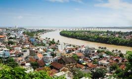 De stad van Tuyhoa, Phu-Yenprovincie, Centraal van Vietnam Stock Afbeeldingen