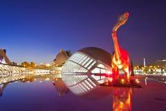 De Stad van Valencia van Kunsten en het Museum van de Wetenschap Royalty-vrije Stock Foto