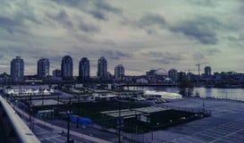 De Stad van Vancouver Stock Afbeeldingen