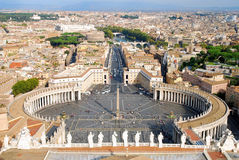 De stad van Vatikaan stock foto's