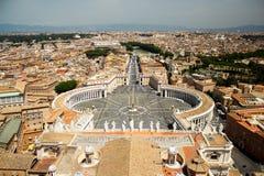 De Stad van Vatikaan Heilige Peters Square - Rome, Italië Stock Fotografie
