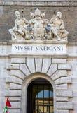 De stad van Vatikaan, het Museum hoofddeur van Vatikaan Royalty-vrije Stock Fotografie