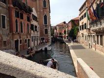 De Stad van Venetië Italië in het water stock foto's