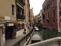 De Stad van Venetië Italië in het water stock fotografie