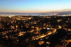 De stad van Victoria bij nacht Stock Fotografie