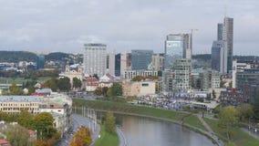 De stad van Vilnius van een hoogte stock foto