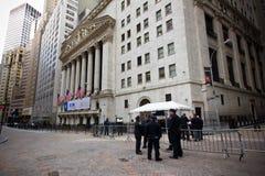 De Stad van Wall Street New York Stock Foto