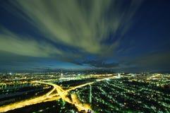 De stad van Wenen bij nacht royalty-vrije stock foto's
