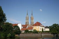 De stad van Wroclaw toneel   Royalty-vrije Stock Afbeeldingen
