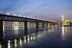 De stad van Wuhan Stock Afbeelding