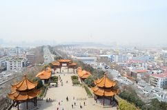 De stad van Wuhan van het meningspunt Stock Afbeelding