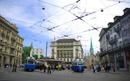 De Stad van Zürich Royalty-vrije Stock Afbeeldingen