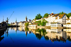 De Stad van Zürich Stock Afbeelding