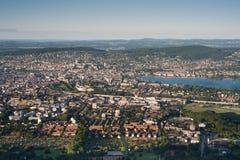 De stad van Zürich Royalty-vrije Stock Afbeelding