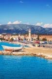 De stad van Zakynthos in de ochtend royalty-vrije stock foto's