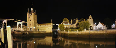 De stad van Zierikzee, Nederland Stock Foto
