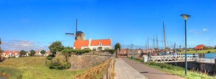 De stad van Zierikzee, Nederland Stock Fotografie