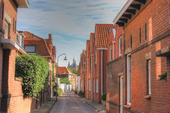 De stad van Zierikzee, Nederland royalty-vrije stock foto's