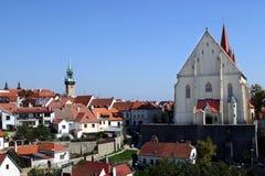 De stad van Znojmo royalty-vrije stock foto
