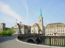De Stad van Zürich Stock Afbeeldingen