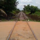 De stad Veracruz van treinsporen stock fotografie